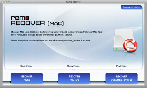 Recover Deleted MOV Video Files from MacBook Pro - Welcome Window